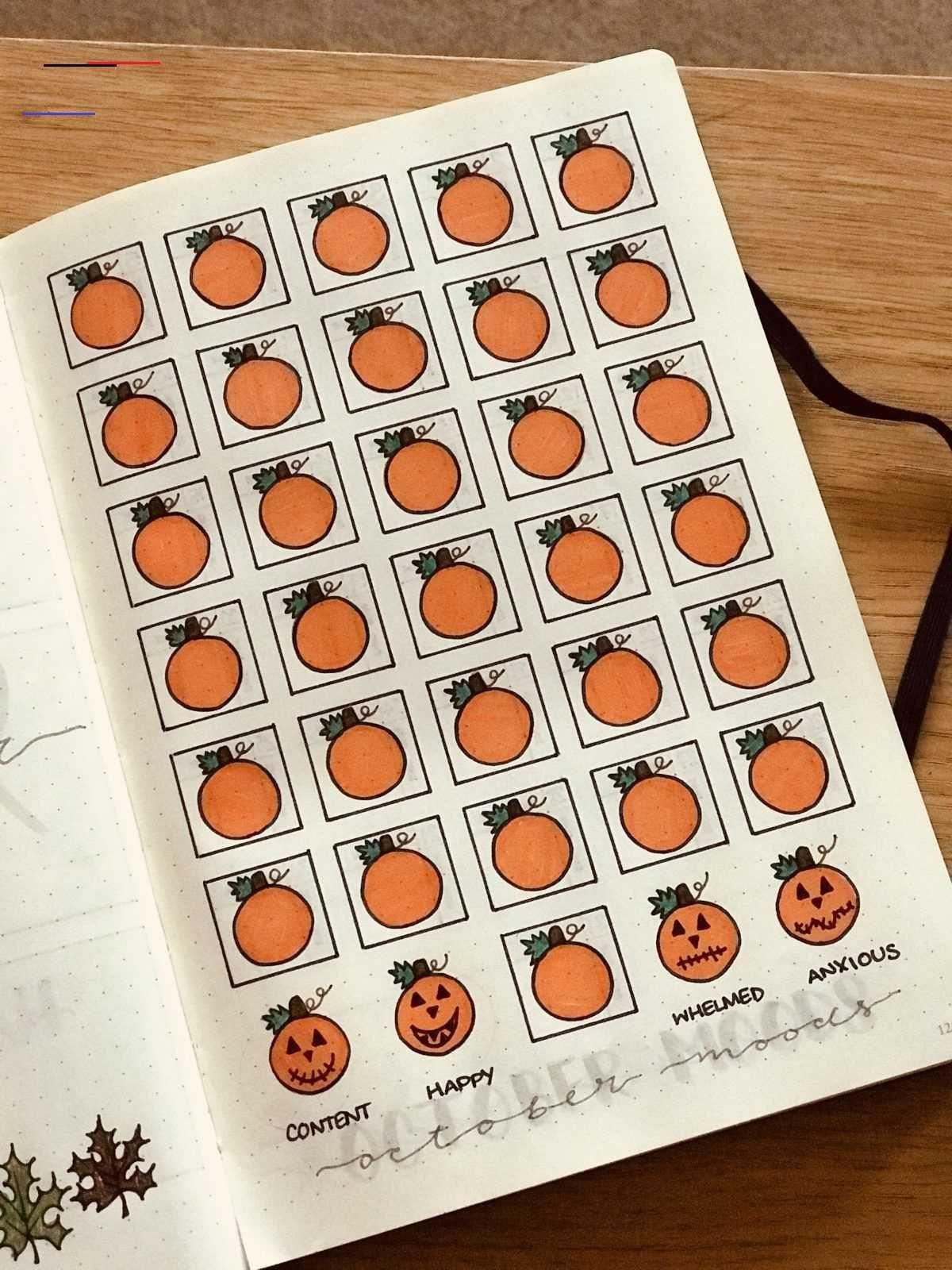 Halloween Mood Tracker {Spooky October bullet journal mood
