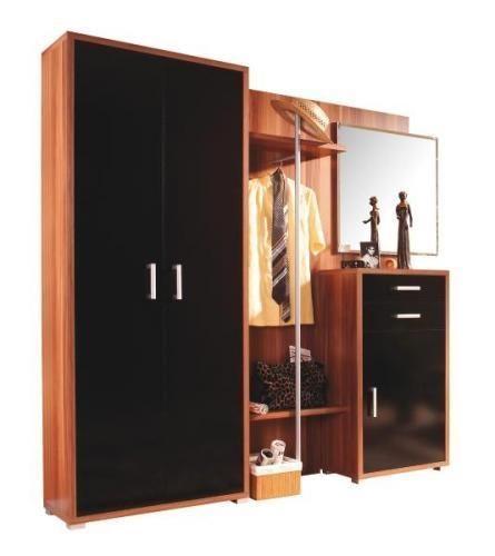 Kleiderschrank spiegel modern  GARDEROBE GARDEROBEN SET SCHUHSCHRANK SPIEGEL SCHRANK QUADRO 4 ...