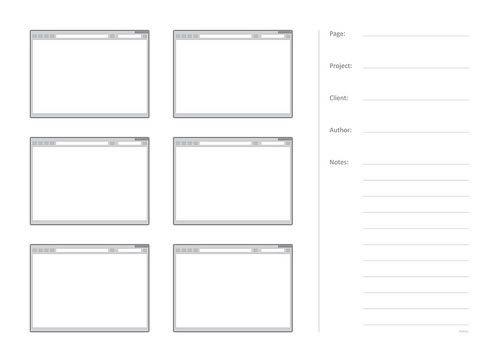Free Printable Sketching, Wireframing and Note-Taking PDF