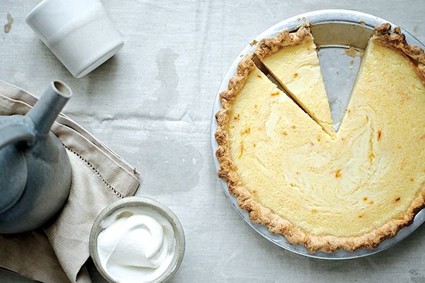 Lemon Buttermilk Pie With Saffron Recipe Desserts Buttermilk Pie Sweet Pie Desserts