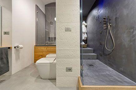 Badkamer met beton, beton cire en hout | Inrichting-huis.com ...