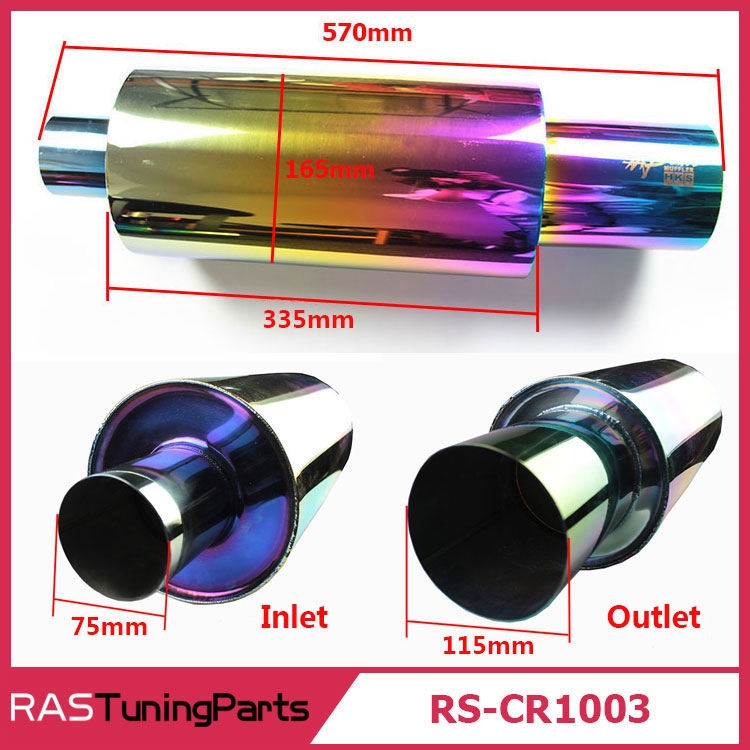 60.00$  Watch more here  - New Arrival Bigger 570MM Length Neo Chrome Hi Power Universal Exhaust Pipe Racing Muffler Tip Car Exhaust Pipe RS-CR1003