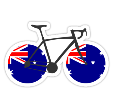 Australia Flag Cycling Stickers By Esskay Redbubble Australia Flag Cycling Flag