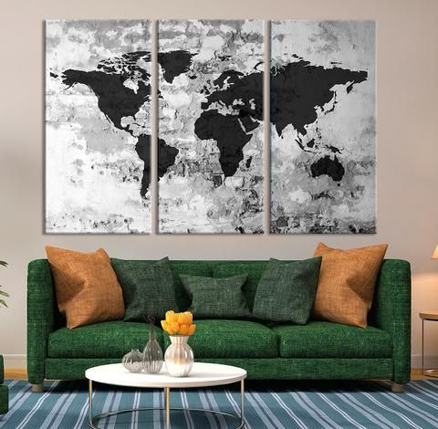 Canvas art print sephia watercolor world map on old wall large canvas art print sephia watercolor world map on old wall large wal gumiabroncs Image collections