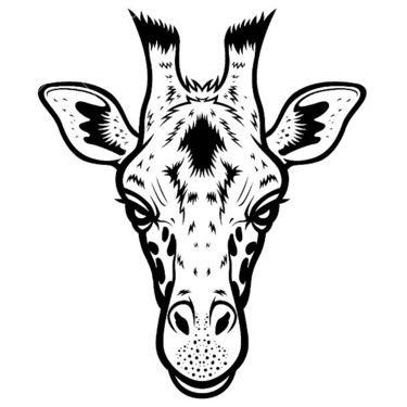 Einfacher Giraffen-Haupttätowierungs-Entwurf