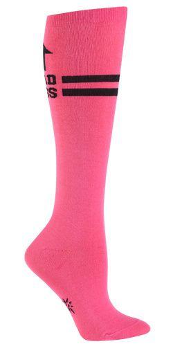 The Joy of Socks - Pink Bad Ass Knee Socks (Women's), $10.00 (http://www.joyofsocks.com/pink-bad-ass-knee-socks-womens/)