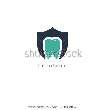 Dental Care Logo Design Template Dental Shield Tooth Protection