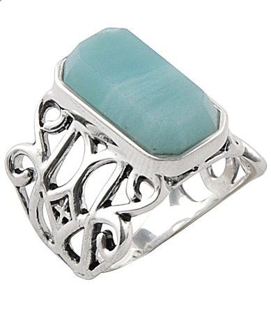 Calvary Sterling Silver Amazonite Stone Statement Ring #Dillards