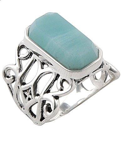 Calvary Sterling Silver Amazonite Stone Statement Ring #Dillards