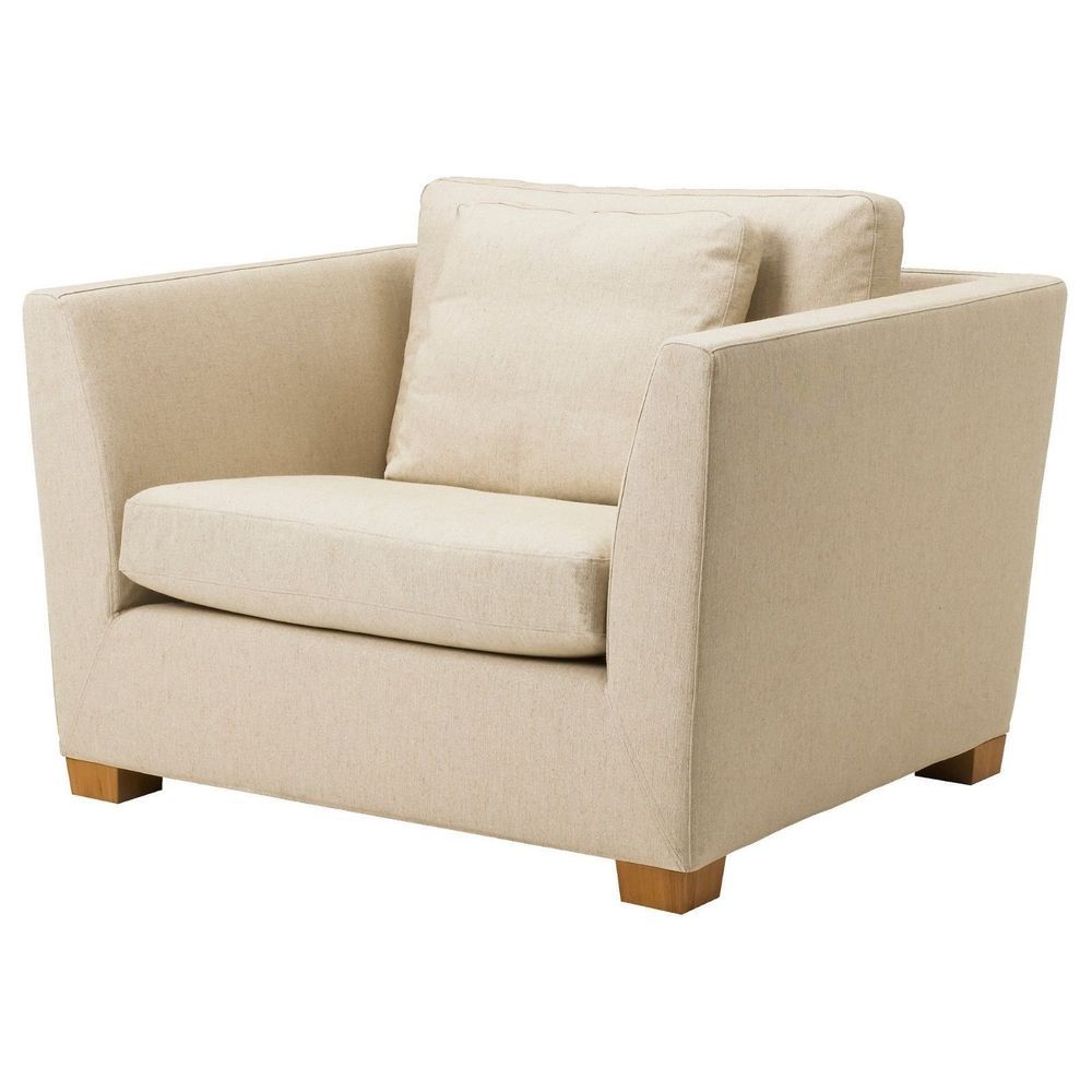 IKEA Stockholm 1.5 Seat Chair Armchair Gammelbo Beige Slipcover