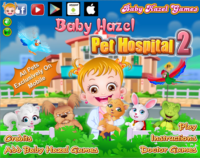 Be A Vet To Lovable Pets Of Baby Hazel And Treat Them With Care Http Www Babyhazelgames Com Games Baby Hazel Pet Hospital 2 H Sick Pets Baby Games Baby Hazel