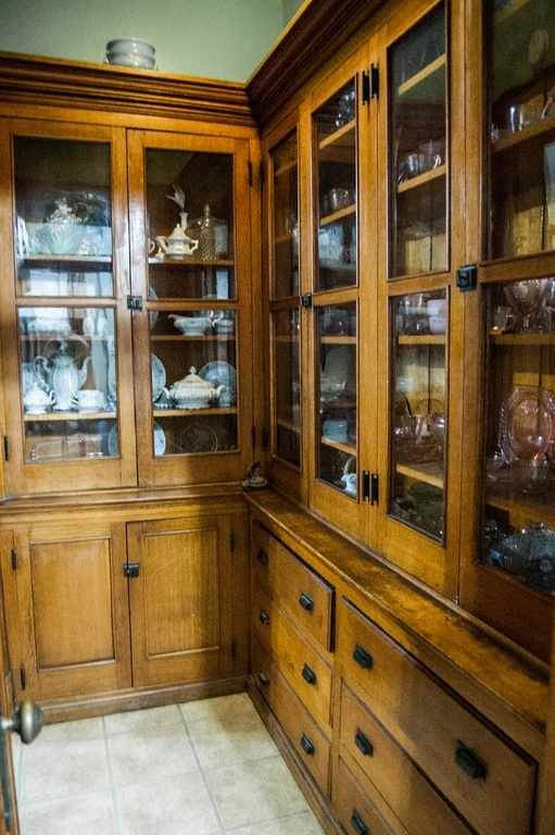Historic Victorian Kitchen Cabinets An Important Element: 1896 Queen Anne, Circleville, OH.