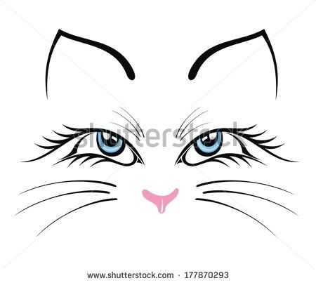Cat Face Drawing Free Vector For Free Download About 23 Free