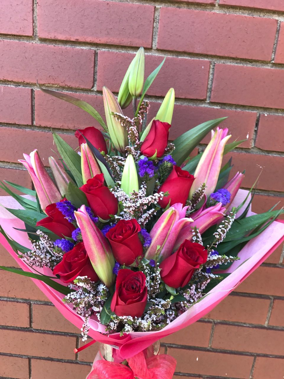 Make Someone Feel Special With A Lilies And Roses Bouquet We Make