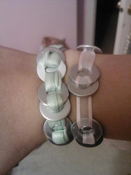 pretty washer bracelets