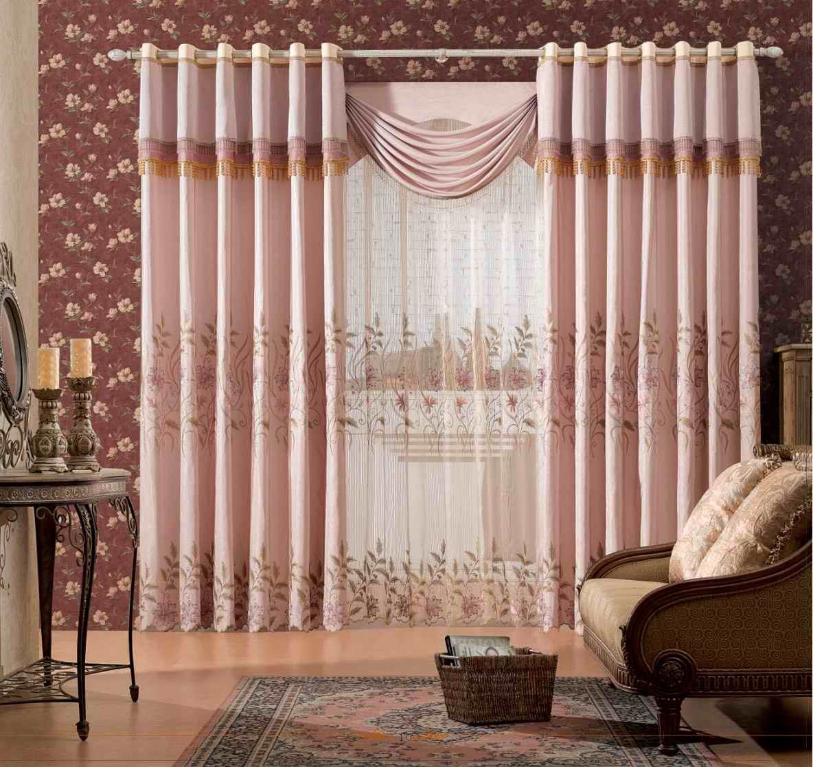 Living Room Curtains Designs Alluring Top 22 Curtain Designs For Living Room  European Style Beautiful Design Decoration
