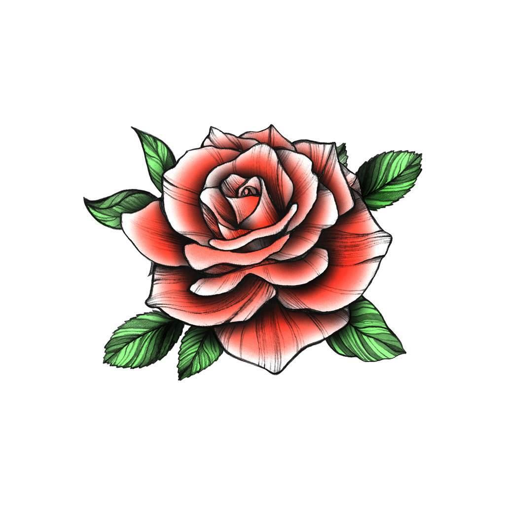 Red Vintage Rose In 2020 Vintage Rose Tattoos Vintage Flower Tattoo Rose Tattoos For Men