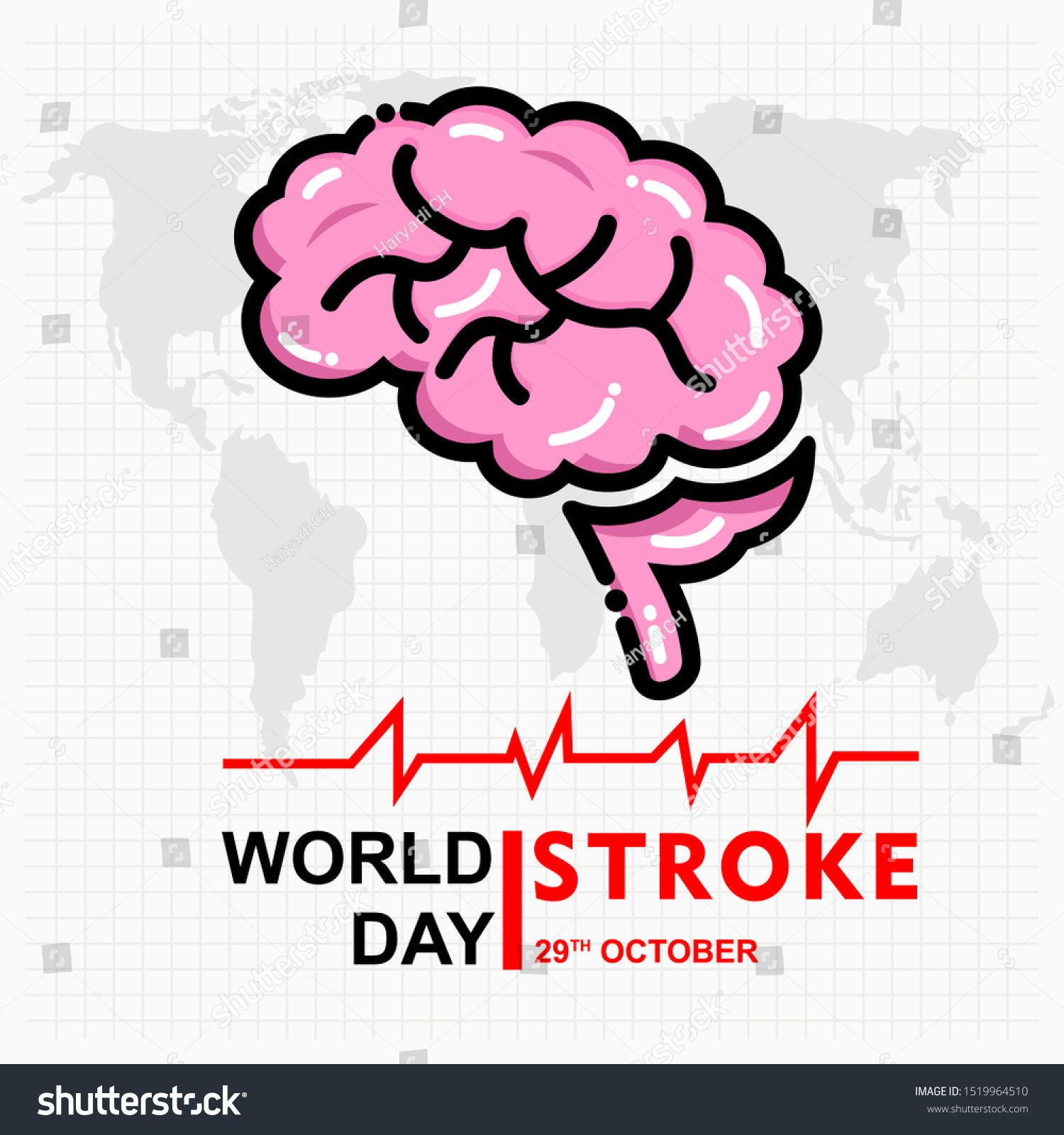World Stroke Day Poster And Banner Ad Sponsored Stroke World Day Banner In 2020 World Stroke Day Banner Poster