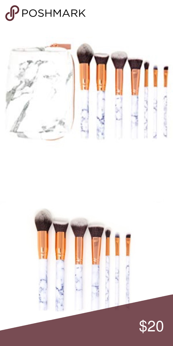 Zoë Ayla 7 Piece Marble Effect Makeup Brush Set NWT in