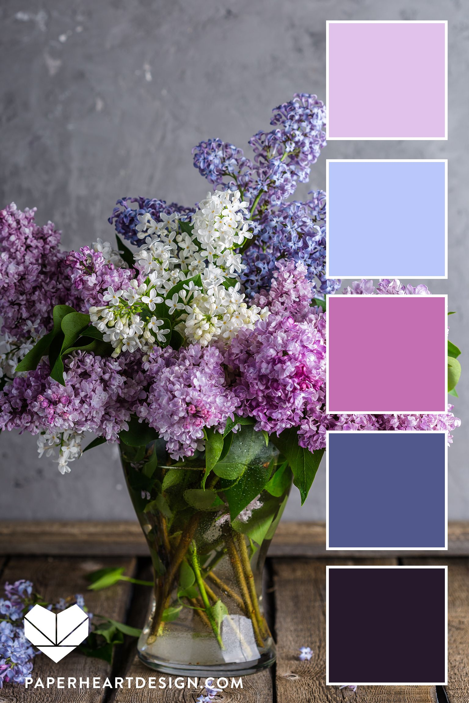 Lilac Flower Inspired Color Palette