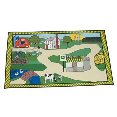 John Deere Scenic Floor Rug for Children | MonsterMarketplace.com