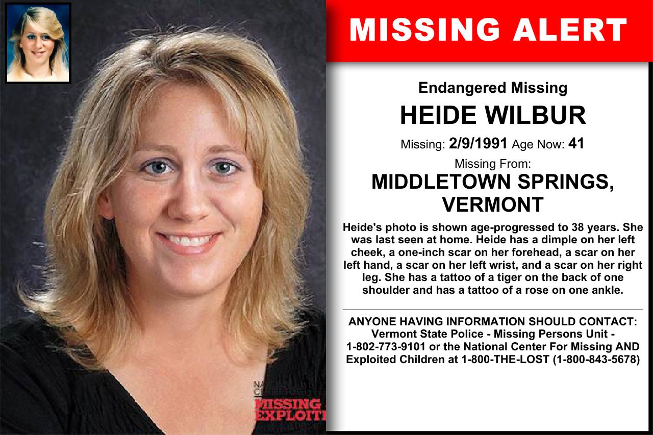HEIDE WILBUR, Age Now 41, Missing 02/09/1991. Missing