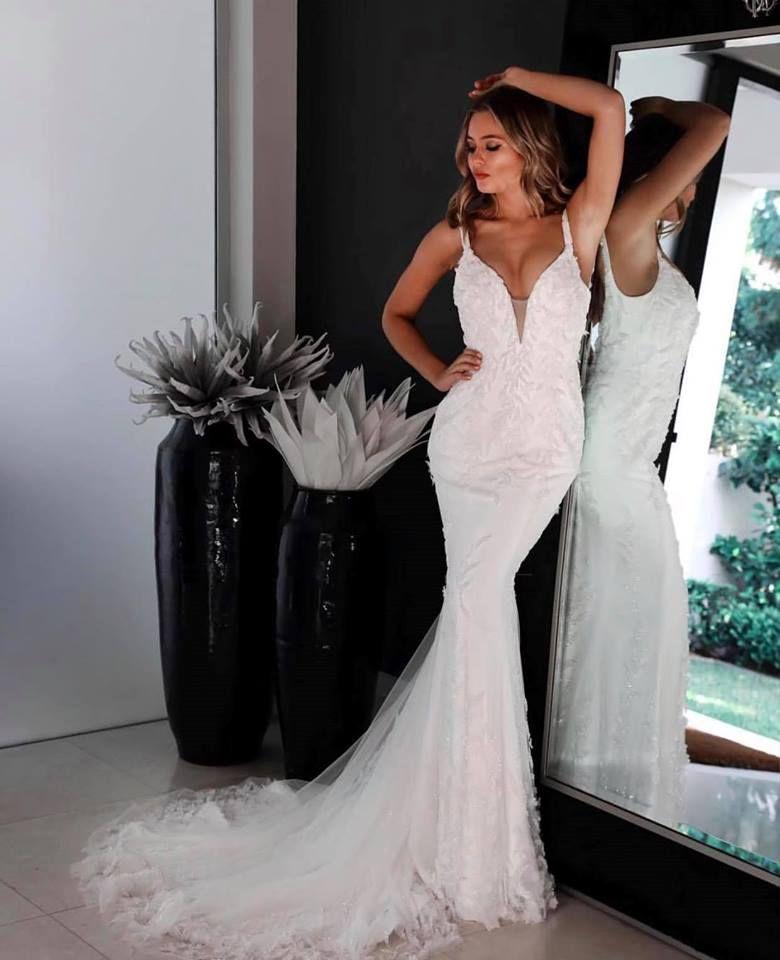 Aubrey Wedding Gown W111 By Jadore Bridal Size 10 Mermaid Style Dress Cocktail Length Dress Jadore Dress