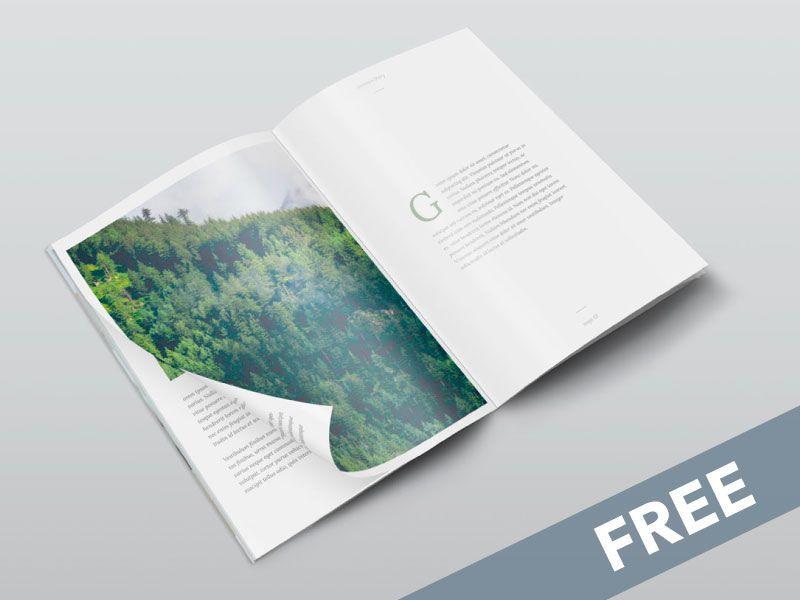 Free Isometric A4 PSD Magazine Mockup Mock up, Magazines and - free isometric paper
