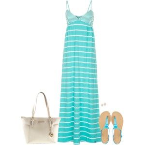 Striped Maxi Dress for Summer