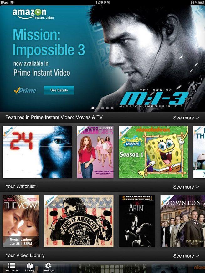 Amazon Instant Video Service App Lands on iPad Amazon