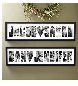 framed names using pictures