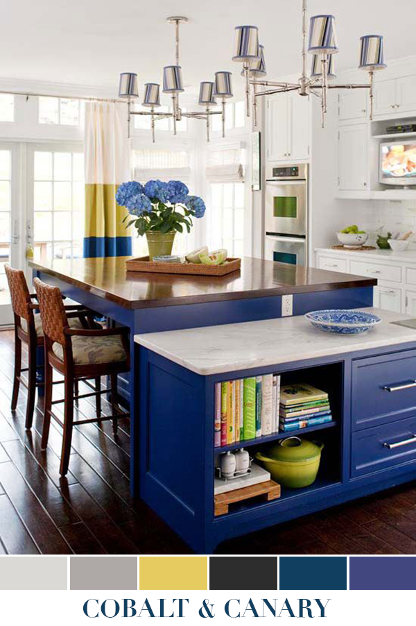 Inspired By Cobalt Blue And Canary Yellow Kitchen Window Design Home Kitchens Kitchen Decor