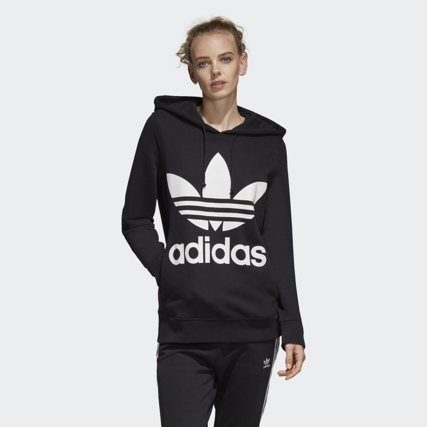 Adidas Originals Trefoil Hoodie Womens Style : Eh5554