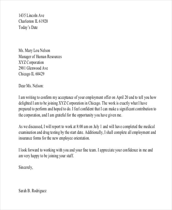 Appointment Letter Templates Free Sample Example Format Download