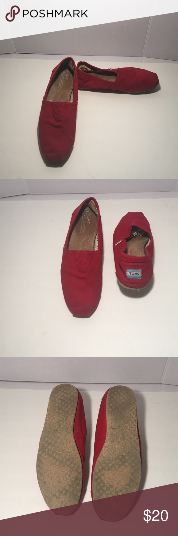 Red Toms Shoes Red Toms Shoes. Good used condition. Size 10 TOMS Shoes Loafers & Slip-Ons