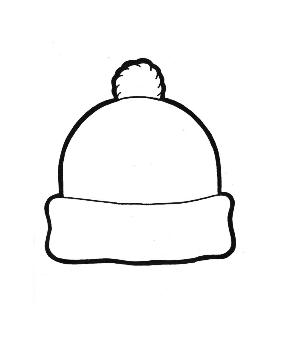Winter hat template 135867 winter hat coloring page for Top hat template for kids