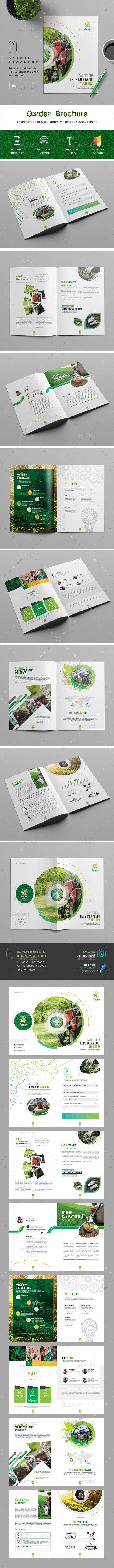 Garden Brochure Template   Photoshop und Magazin