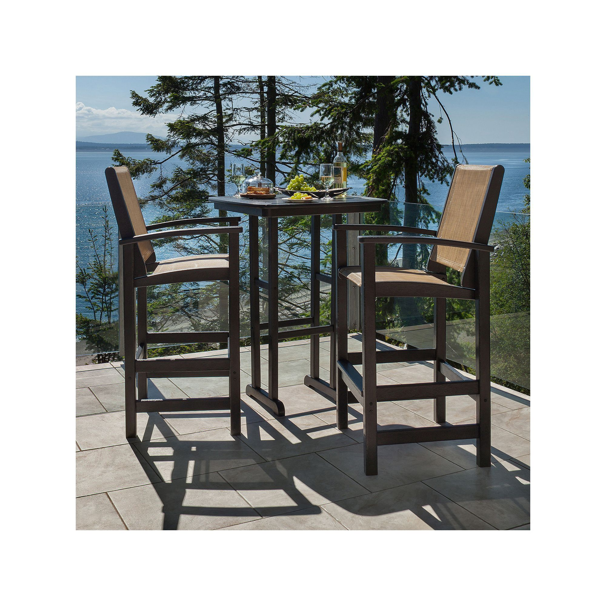 Polywood® 3-piece Coastal Outdoor Bar Chair u0026 Table Set Multicolor Durable  sc 1 st  Pinterest & Polywood® 3-piece Coastal Outdoor Bar Chair u0026 Table Set Multicolor ...