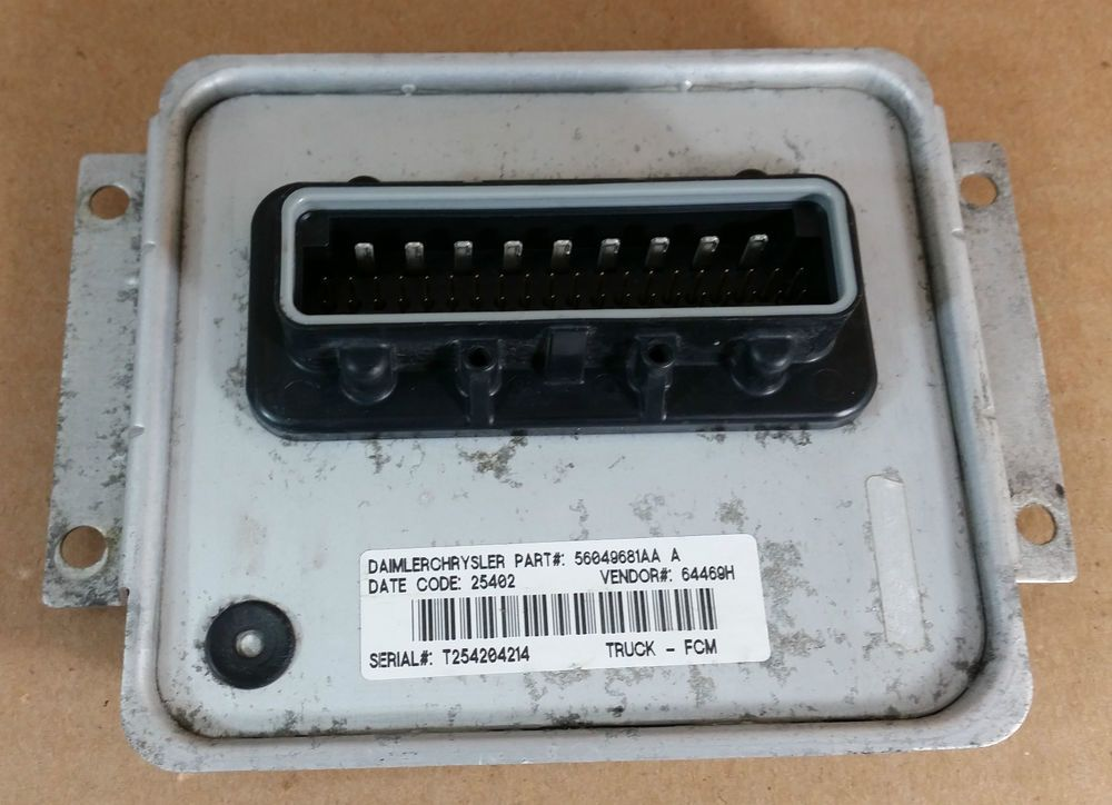 02 05 Dodge Ram 1500 2500 3500 Truck Front Body Control Module Oem 56049681aa Dodgeoem