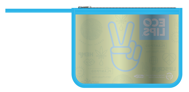 Klare Quart-Reißverschlusstasche
