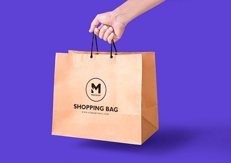 Download Handheld Brown Craft Paper Bag Mockup Free Package Mockups Bag Mockup Free Packaging Mockup Packaging Mockup