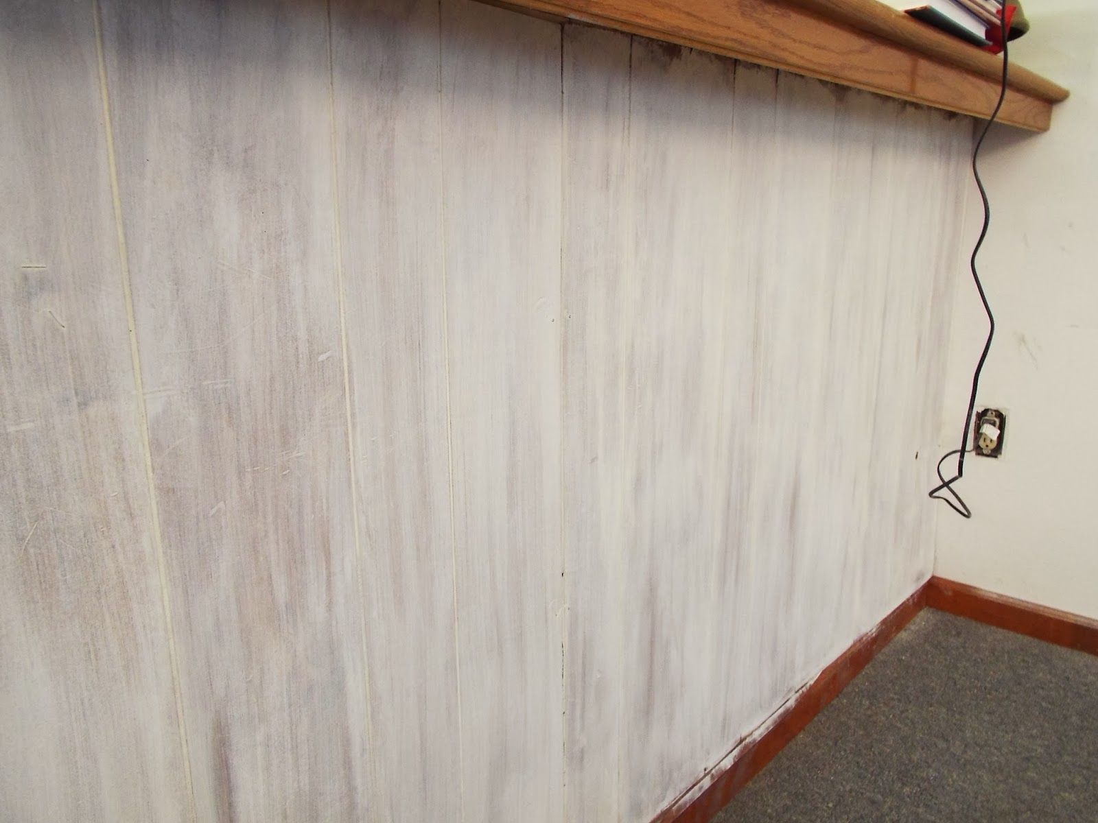 Whitewashing Wall Paneling With Annie Sloan Chalk Paint Painting Wood Paneling White Washed Wood Paneling Wall Paneling
