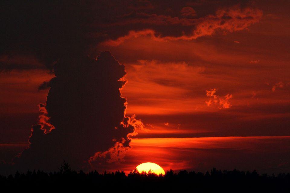 Stunning sunset, Vantaa, Finland Ismo Konga
