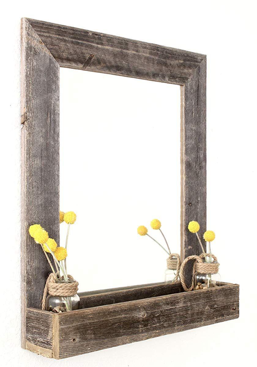 BarnwoodUSA Farmhouse bathroom mirrors, Rustic wall