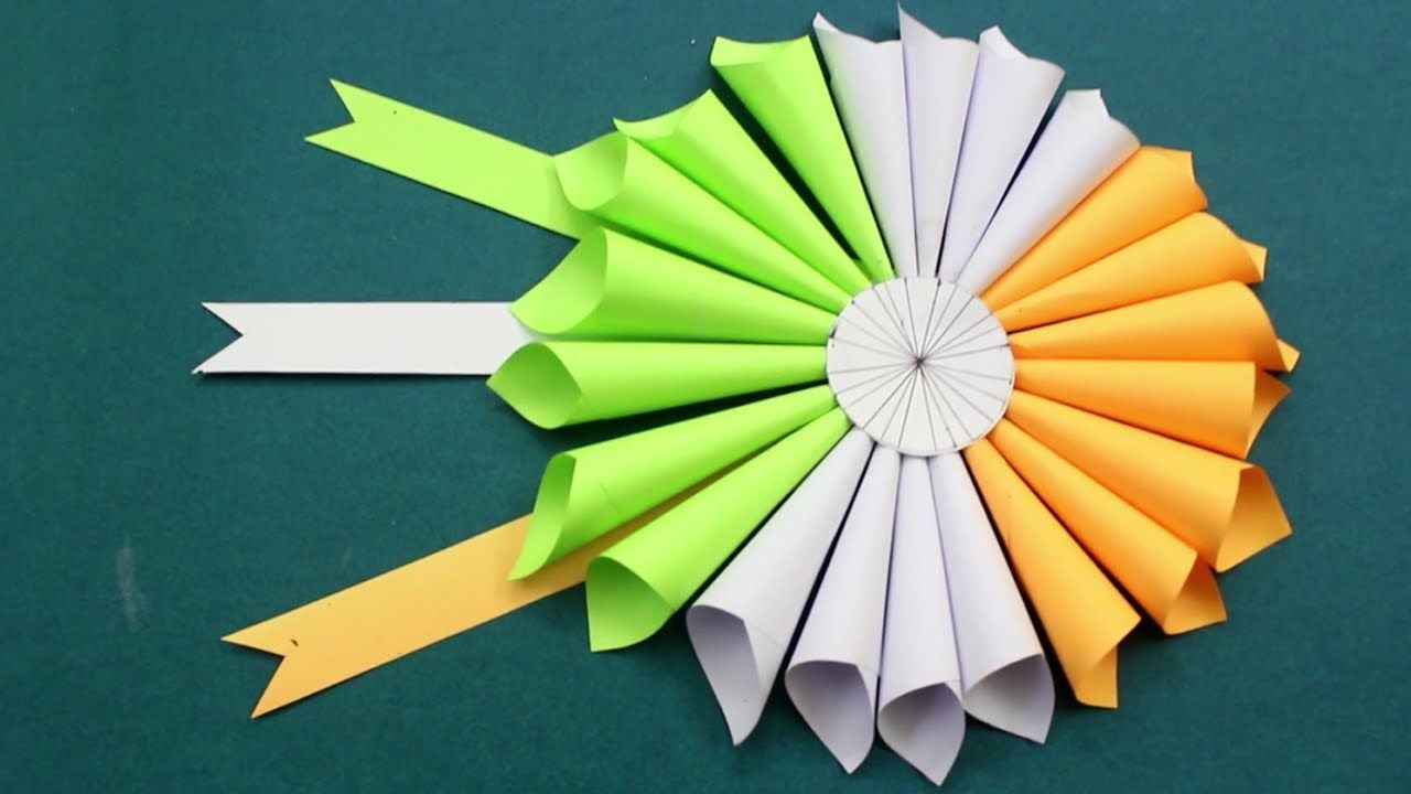 Republic Day Independence Day Craft Idea Tricolor Diy Paper Flower Crafts Paper Flowers Christmas Crafts For Kids