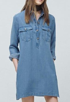 ec42a905f37 Mango - Robe en Jeans