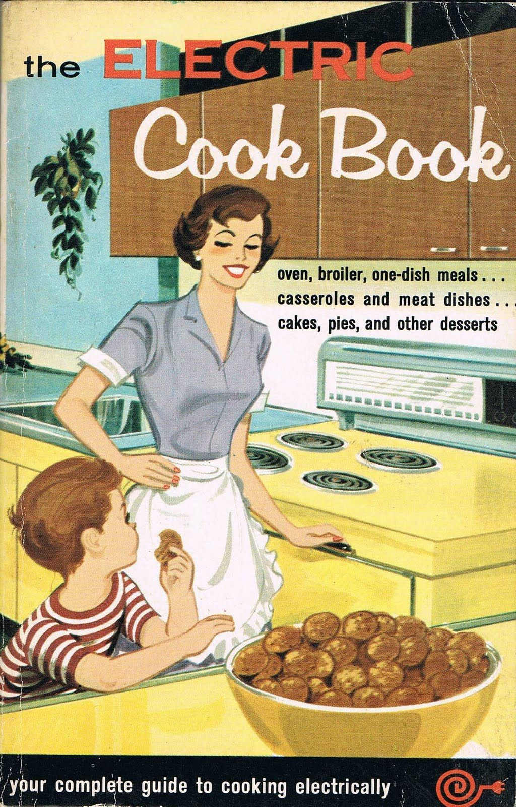 1950's cookbooks Mom had an electric stove like that!