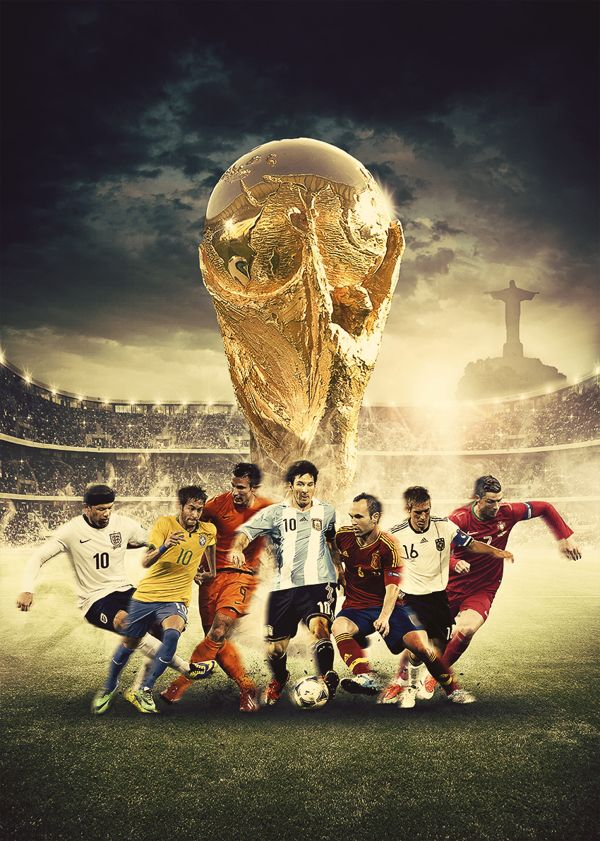 Forza27 World Cup 2014 Digital Art Poster World Cup Soccer World World Football