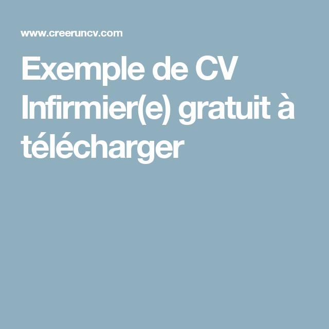 Exemple De Cv Infirmier E Gratuit A Telecharger Exemple Cv Cv Infirmier Modele Cv