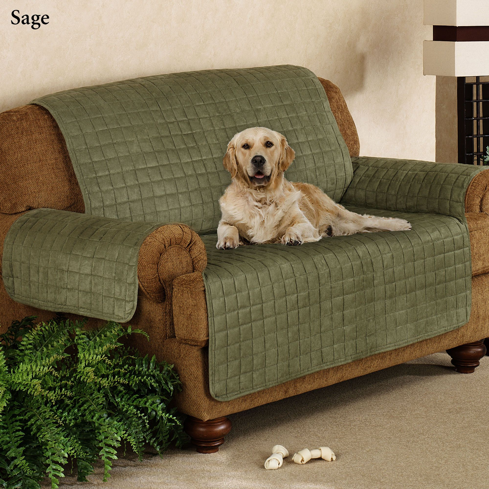 Faux Suede Pet Furniture Covers For Sofas, Loveseats, And Chairs
